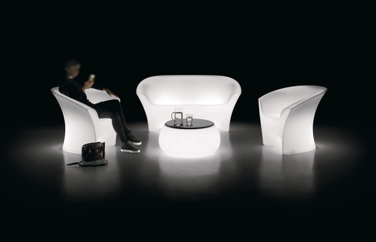 LT TABLE, Mesa redonda brillante al aire libre