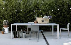 Sushi Outdoor, Mesa extensible minimalista, para jardines y exterior