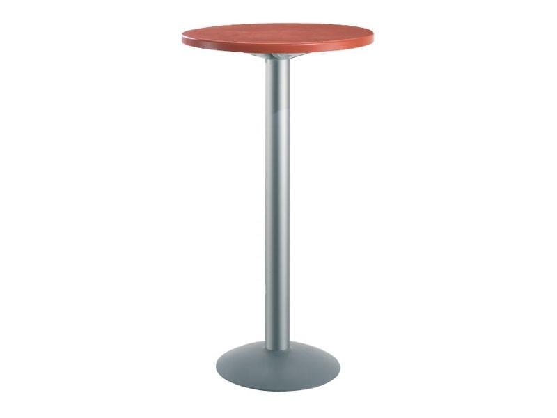 Table Ø 60 h 110 cod. 08/BT, Alta mesa redonda para las barras, la parte superior de polímero