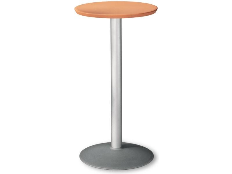 Table Ø 60 h 110 cod. 08/BT54, Mesa redonda de acero para uso externo