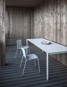 Thin-k Longo Outdoor, Mesa de diseño con tapa extensa y delgada, para exterior