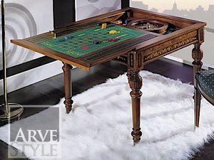 Canaletto Mesa de juego, Mesa de juegos con tapa intercambiable