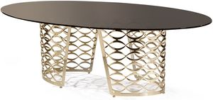 Isidoro mesa, Mesa moderna con tapa ovalada