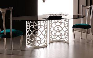 Flora Art. 223-RS1M, Mesa con elegante base de aluminio