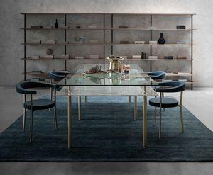 Legs Dining Table, Mesa de cristal y lat�n