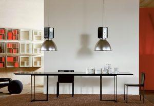 Leonardo, Cuadro con diseño minimalista, metal y vidrio, para sala de estar