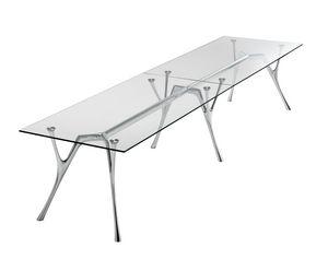 Pegaso infinito, Mesa modular de aluminio con tapa de cristal