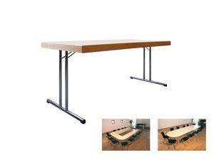 Conference 1880, Mesa plegable con suelo de madera para banquetes y reuniones