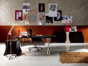 SC19 Cartesio escritorio, Escritorio ejecutivo en ébano, para Office