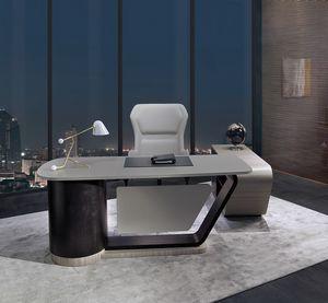SC30 Century escritorio, Escritorio con sobre de cuero