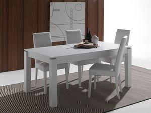 Art. 628 Rialto, Mesa extensible hecha de madera maciza lacada