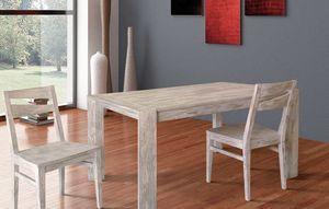 Art. 654, Mesa de madera con dos extensiones internas.