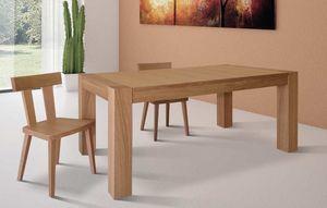 Art. 656, Mesa de comedor extensible, en madera de roble.