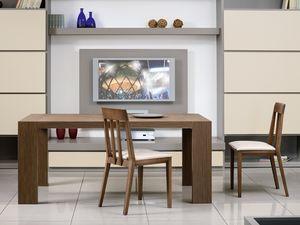 Complementos Mesas y Consolas 03, Mesa rectangular extensible para cocina