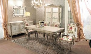 Delizia mesa rectangular, Mesa extensible de madera