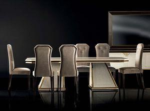 DIAMANTE mesa extensible, Lujosa mesa de comedor con extensiones