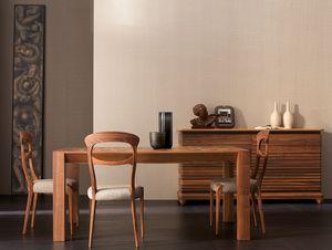 Elettra Art. EL136, Mesa extensible de madera