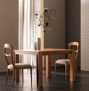Elettra Art. EL138, Mesa extensible en madera de nogal