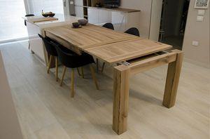 Eva mesa, Mesa extensible en madera maciza.