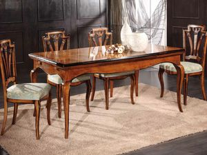 Gabriel mesa, Mesa extensible de madera decorada a mano