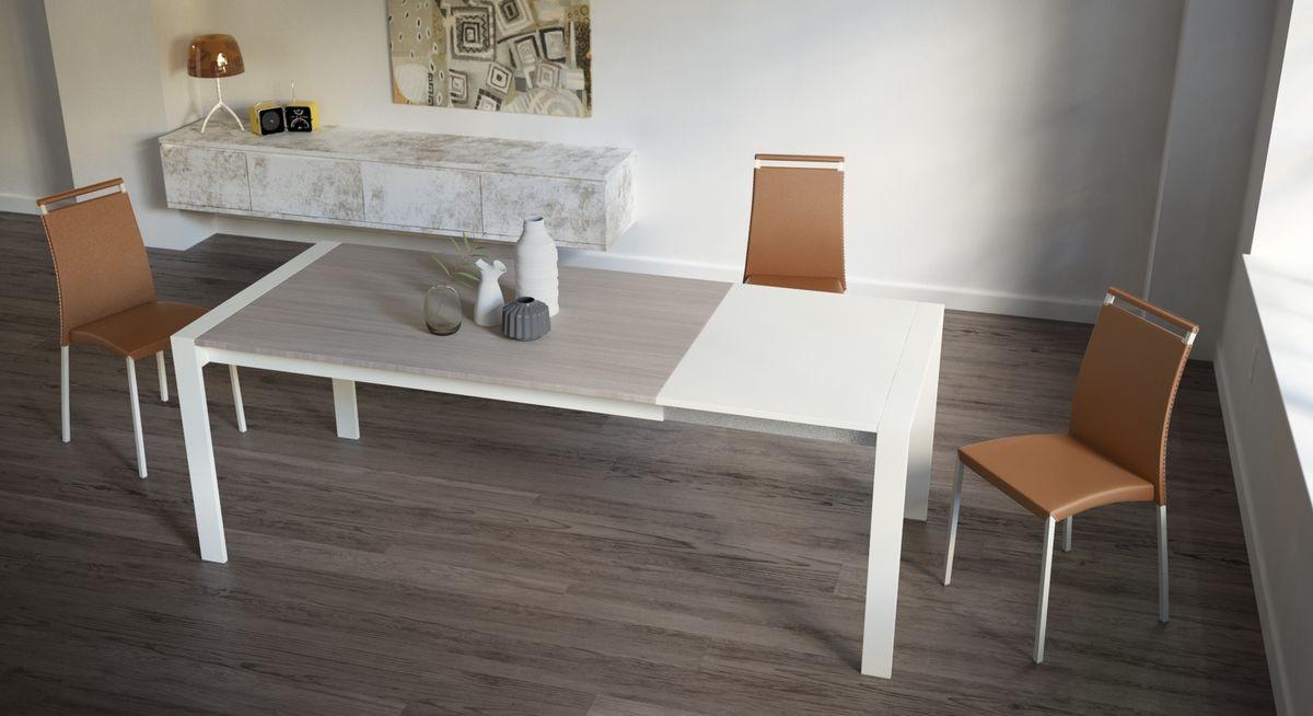 Oliver, Mesa rectangular extensible para cocinas modernas