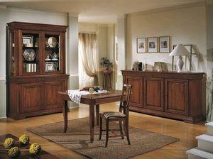 Palladio mesa, Mesa con extensiones plegables