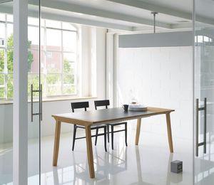 Pigreco, Mesa extensible con tapa de madera, para el comedor