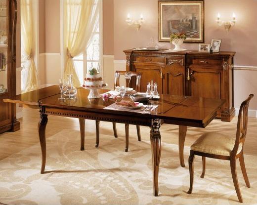 REGINA NOCE / Rectangular table, Mesa de madera extensible, para los comedores tradicionales