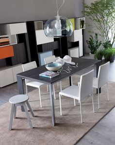 Secret, Extensible mesa de aluminio ideal para residencial