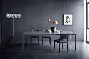 Soffio, Mesa lineal para salas de estar, estilo moderno