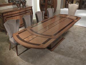 TA62k Charme mesa, Incrustaciones extensible mesa de madera, para los restaurantes
