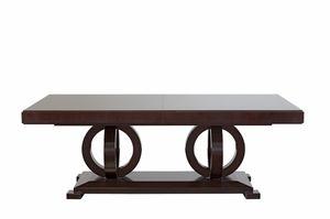 Tosca mesa, Mesa extensible de madera, con tapa chapada