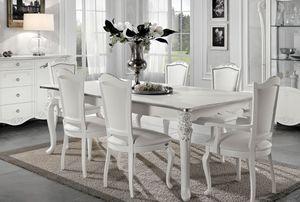 Viola mesa rectangular, Mesa extensible, estilo neoclásico
