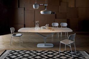 ARISTON, Mesa extensible o fija, con tapa de cristal o cerámica.