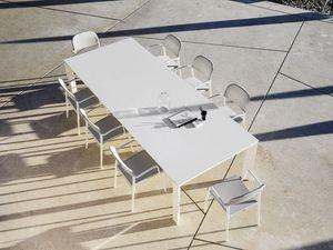 Dolmen, Mesa extensible, de aluminio, de terrazas y comedores