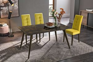 SYNCRO 150 TA1B4, Mesa de comedor con sobre de gres porcelánico