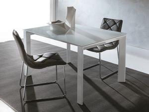 Art. 629 Silver, Mesa extensible moderna con patas triangulares