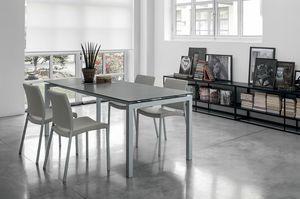 AURIGA 140 TA114, Mesa rectangular con extensiones de vidrio