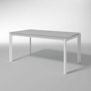 Bailo, Mesa extensible con vidrio templado para cocinas
