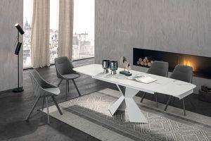 POSEIDONE 160 TA1A0, Mesa de comedor con un diseño elegante