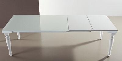 s56 cesare s58 cesarone, Mesa extensible con tapa de cristal