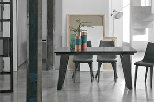 ZEUS 160 TA1A9, Mesa extensible para sala de estar moderna