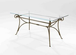 Bach, Mesa con base de hierro forjado macizo