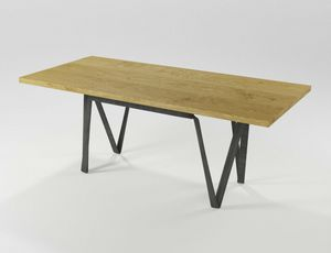 Doppiavi, Mesa rectangular de hierro y madera