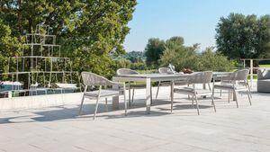 Dolmen low, Mesa extensible de aluminio para uso exterior