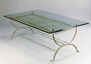 ROMBI GF4002CT, Mesa rectangular en latón para uso en exteriores
