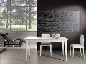 Complementos Mesa 03, Mesa de madera extensible, ideal para sala de estar moderna