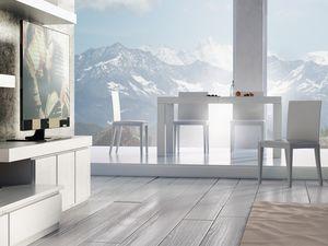 Complementos Mesa 01, Mesa de madera extensible, para la vida moderna