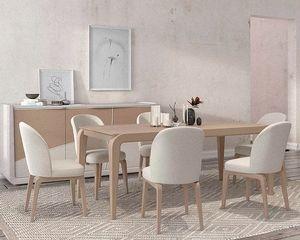 Desi, Mesa de madera elegante