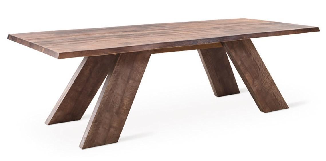 R stica mesa lineal en madera maciza idfdesign - Mesa madera maciza rustica ...